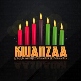 Platte ontwerp kwanzaa kleurrijke kaarsen