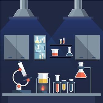 Platte ontwerp laboratorium kamer illustratie