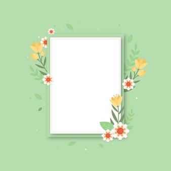 Platte ontwerp lente bloemen frame