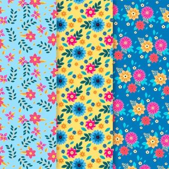 Platte ontwerp lente patroon collectie concept