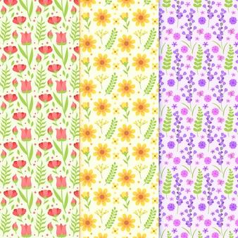 Platte ontwerp lente patroon collectie ontwerp