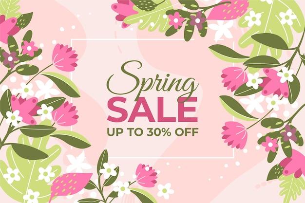 Platte ontwerp lente verkoop campagne