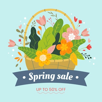 Platte ontwerp lente verkoop met korting