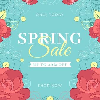Platte ontwerp lente verkoop met rozen