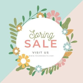 Platte ontwerp lente verkoop