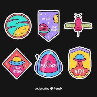 Platte ontwerp levendige ruimte sticker collectie