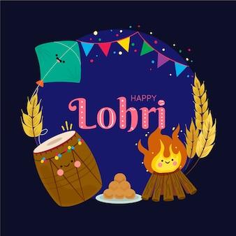 Platte ontwerp lohri festival