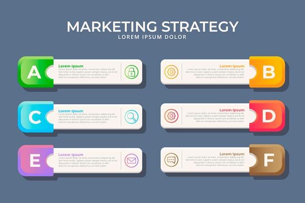 Platte ontwerp marketing infographics