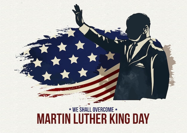 Platte ontwerp martin luther king dag