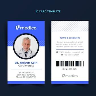 Platte ontwerp medische identiteitskaart