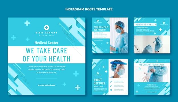 Platte ontwerp medische instagram post