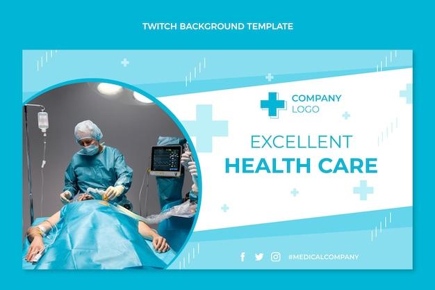 Platte ontwerp medische twitch achtergrond