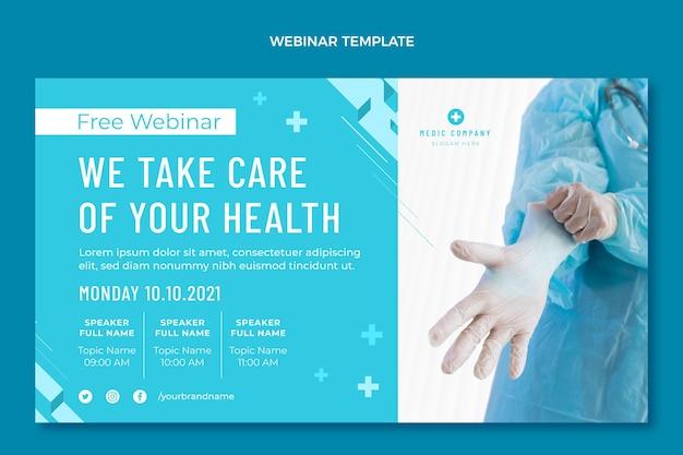 Platte ontwerp medische webinar