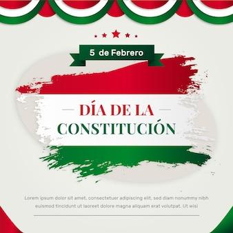 Platte ontwerp mexico grondwet dag