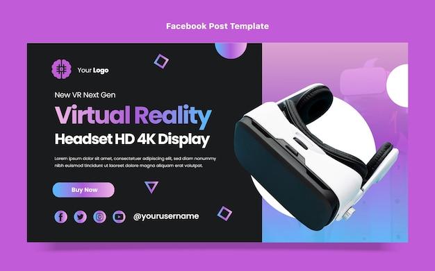 Platte ontwerp minimale technologie facebook post