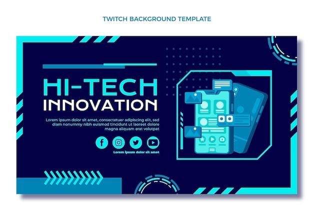 Platte ontwerp minimale technologie twitch achtergrond