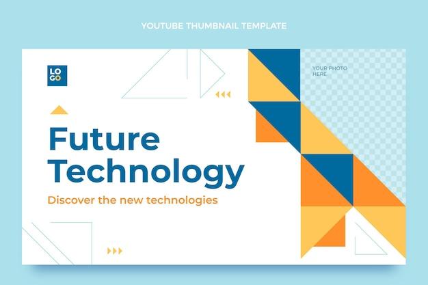 Platte ontwerp minimale technologie youtube thumbnail