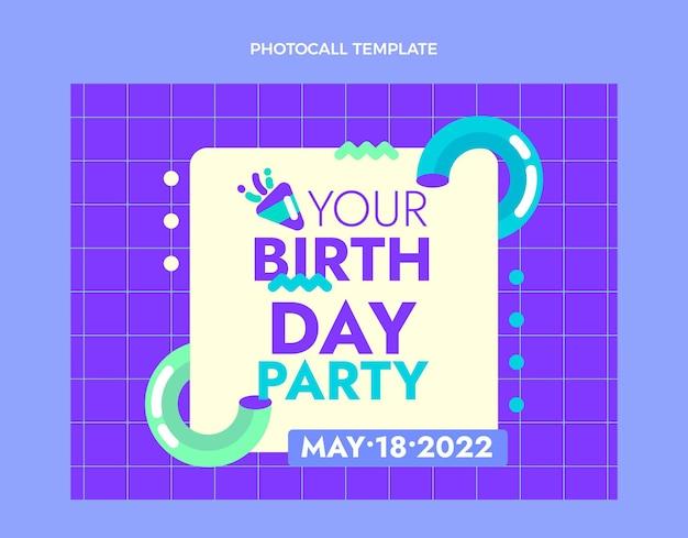 Platte ontwerp minimale verjaardag photocall