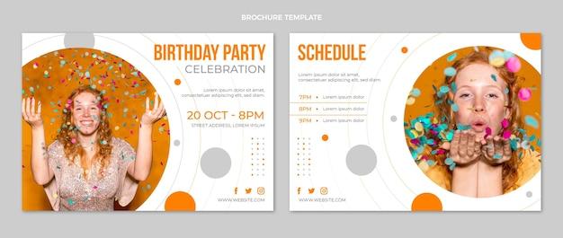 Platte ontwerp minimale verjaardagsbrochure