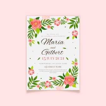 Platte ontwerp minimalistische bruiloft uitnodiging
