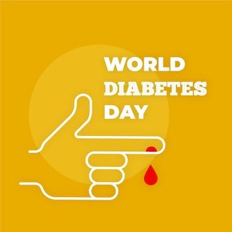 Platte ontwerp minimalistische wereld diabetes dag concept