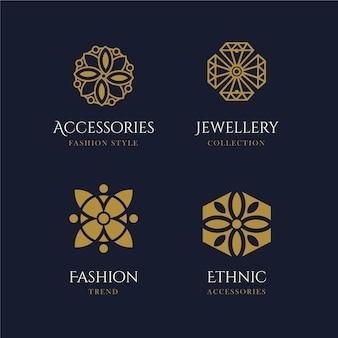 Platte ontwerp mode-accessoires logo set