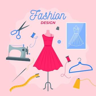 Platte ontwerp modeontwerper concept
