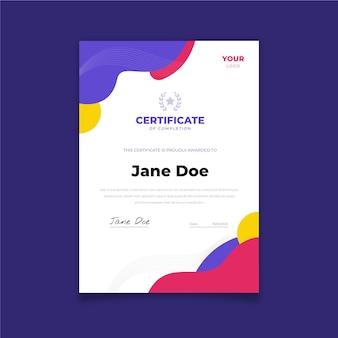 Platte ontwerp moderne certificaatsjabloon