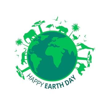 Platte ontwerp moeder aarde dag thema