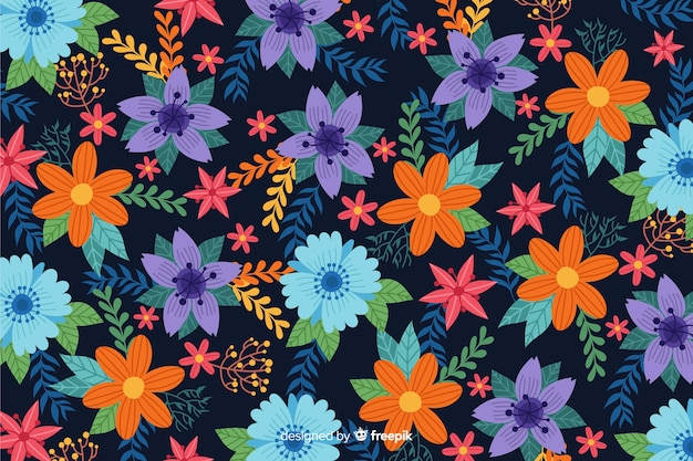 Platte ontwerp mooie bloemenachtergrond