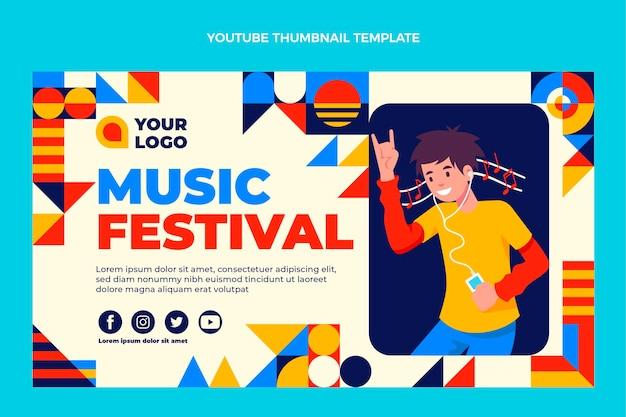 Platte ontwerp mozaïek muziekfestival youtube thumbnail