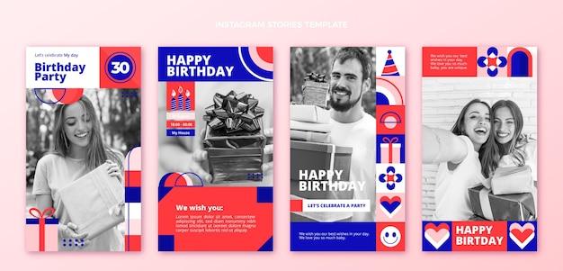 Platte ontwerp mozaïek verjaardag instagram verhalen
