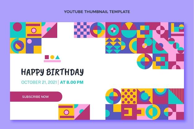 Platte ontwerp mozaïek verjaardag youtube thumbnail