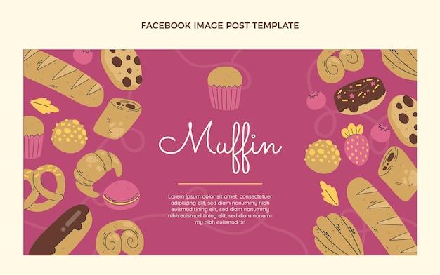 Platte ontwerp muffin facebook post