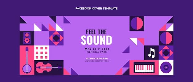 Platte ontwerp muziekfestival facebook cover