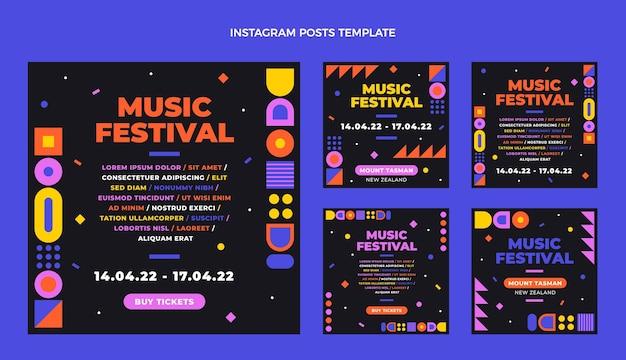 Platte ontwerp muziekfestival instagram post