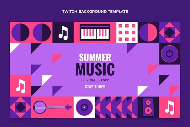 Platte ontwerp muziekfestival twitch achtergrond