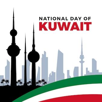 Platte ontwerp nationale dag van koeweit