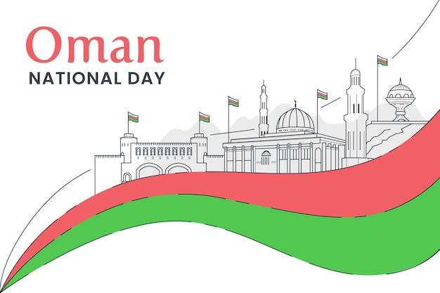 Platte ontwerp nationale dag van oman