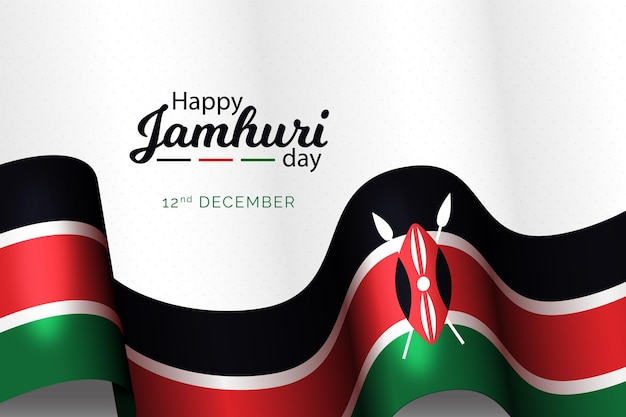 Platte ontwerp nationale jamhuri-dag golvende vlag