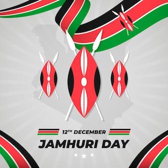 Platte ontwerp nationale jamhuri-dag