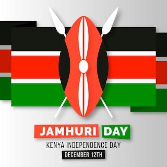 Platte ontwerp nationale jamhuri-dagvlag en symbool