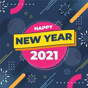 Platte ontwerp nieuwjaar 2021