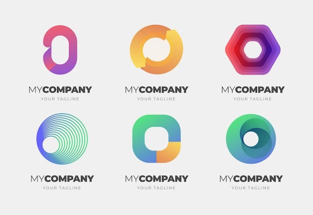 Platte ontwerp o logo collectie