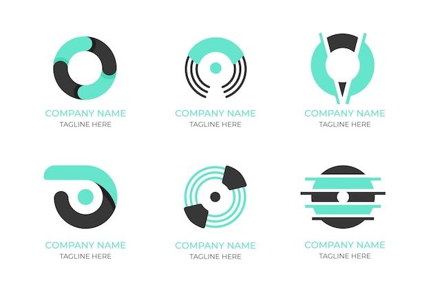 Platte ontwerp o logo sjablonen set