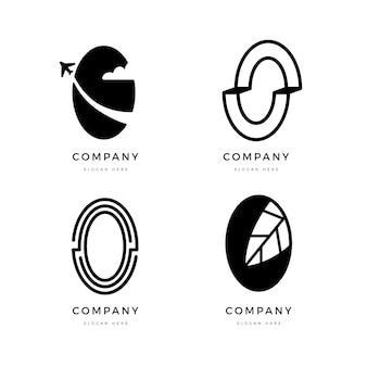 Platte ontwerp o logo sjablooncollectie