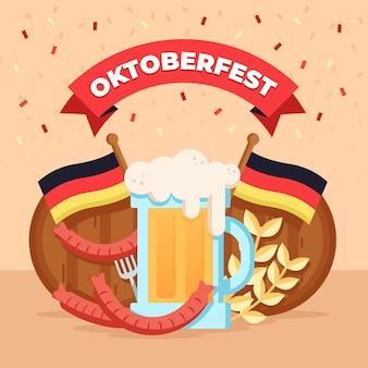 Platte ontwerp oktoberfest concept