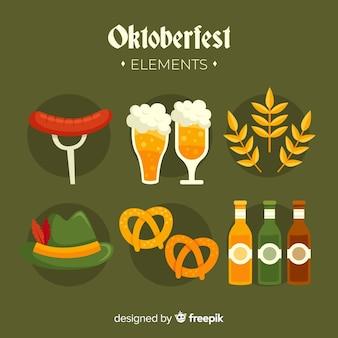 Platte ontwerp oktoberfest element collectie