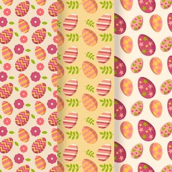 Platte ontwerp pack paasdag patroon
