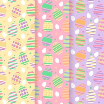 Platte ontwerp pasen dag patroon collectie